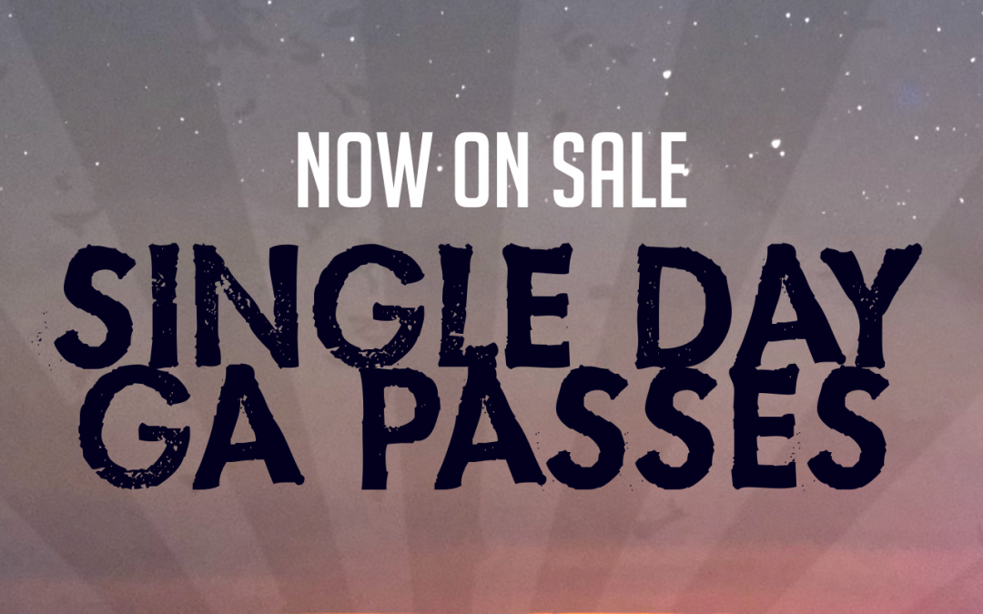 SINGLE DAY GA PASSES